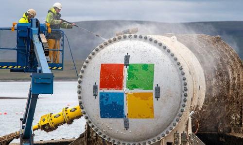 Microsoft's datacenter, retrieved from the bottom of the ocean.